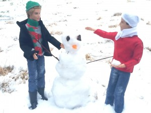 Snowman building with Brandon & Abel from How to Repair a Mechanical Heart