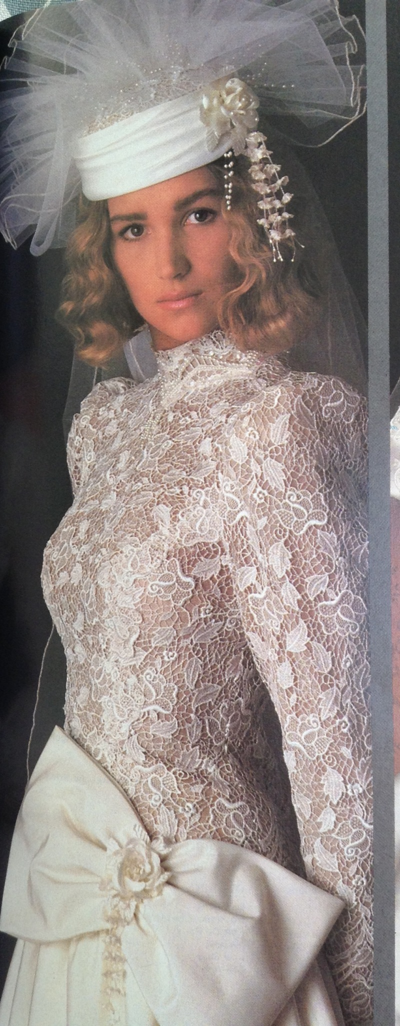 80s Fashion Exclusive The 11 Worst Wedding Gowns Bridesmaid Dresses From The 1985 Bride S Magazine J C Lillis
