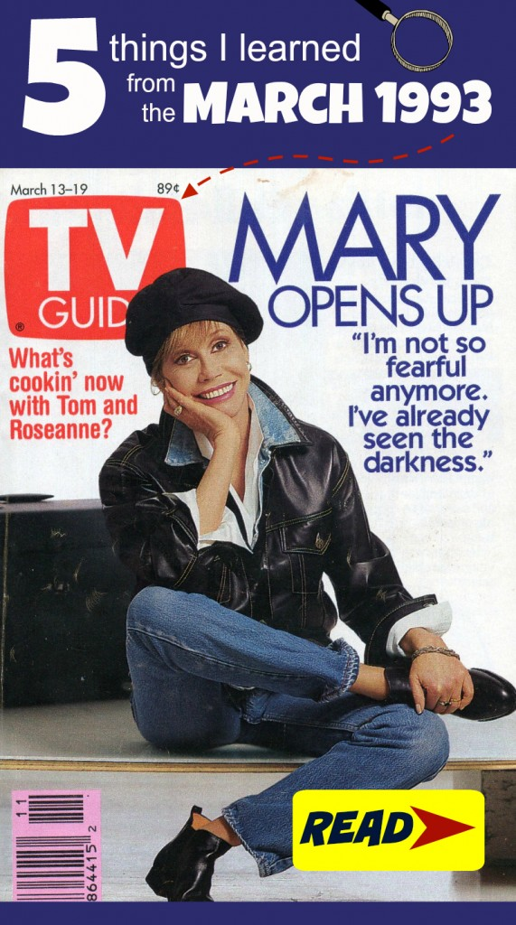 5 things I learned from the March 1993 TV Guide