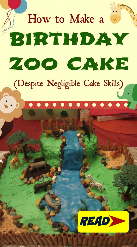 How to make a birthday zoo cake