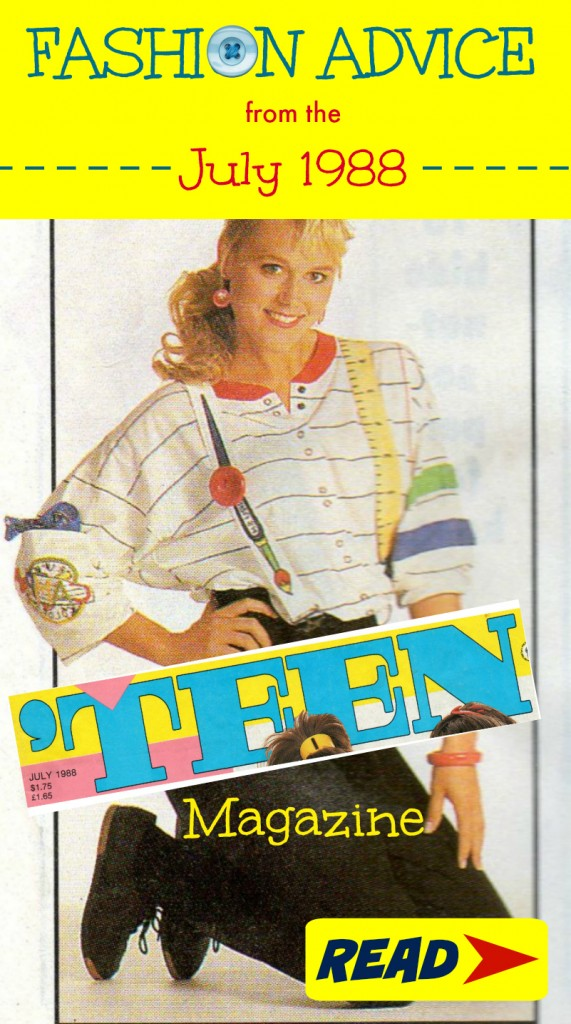 Fashion Advice from the 1988 Teen Magazine